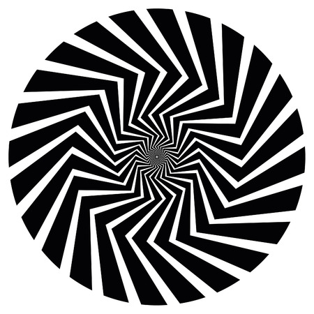 Optical Art spiral. Also available as part of a set of nine spirals. Vectores