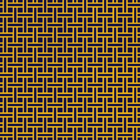 closely: Seamless black and gold weave pattern background texture