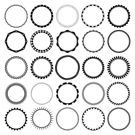 Raccolta di Round Decorative Border frame con Clear Background. Ideale per i disegni di etichette d'epoca. Archivio Fotografico - 56263903