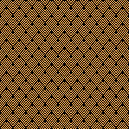 Seamless Gold Art Deco Pattern Vector Illustration