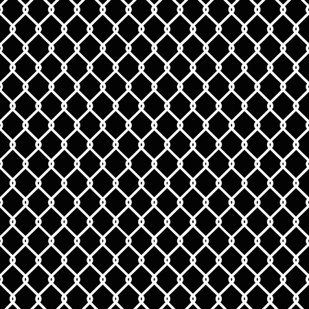 gaol: Seamless chain link fence pattern texture wallpaper Illustration