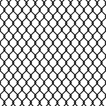 correctional facility: Seamless chain link fence pattern texture wallpaper Illustration