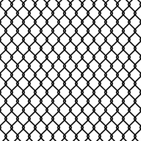 Seamless chain link fence pattern texture wallpaper Vettoriali