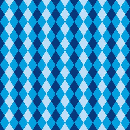 Naadloze blauwe diamant harlekijn achtergrond patroon textuur