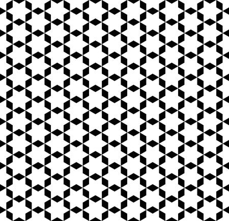 Fondo de estrella geométrico inconsútil del papel pintado