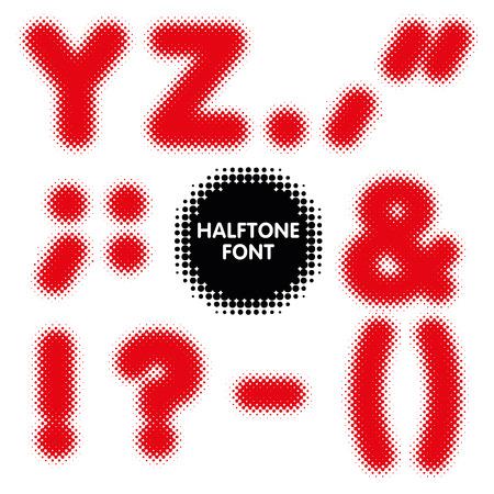 Halftone alphabet font typeface in vector format