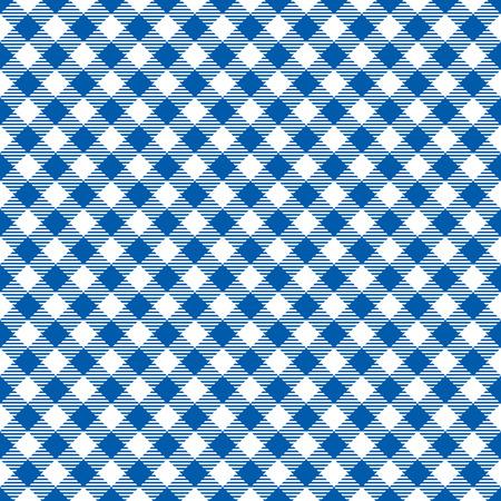 Seamless Blue Checkered Plaid Fabric Pattern Texture