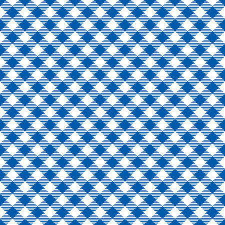 Seamless Blue Checkered Plaid Fabric Pattern Texture