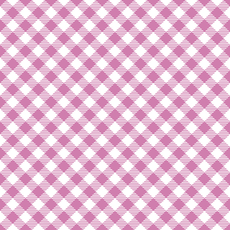 Seamless Pink Checkered Plaid Fabric Pattern Texture Illustration