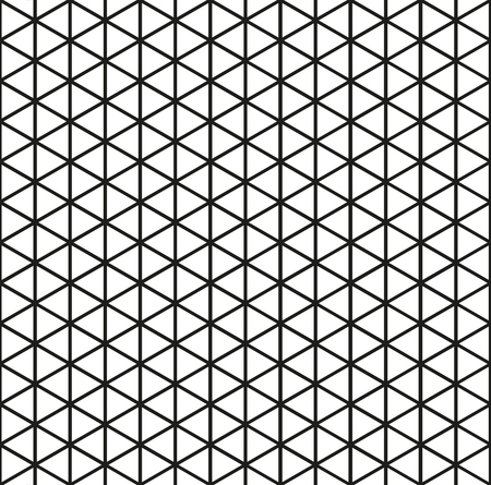 Seamless triangle pattern background in black Illustration