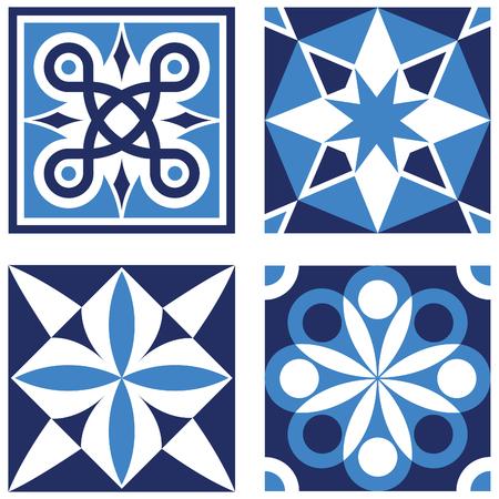fleurdelis: Vintage Ornamental Patterns in Blue Tones