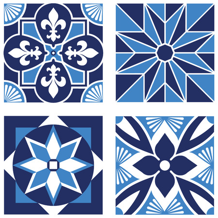 lys: Vintage Ornamental Patterns in Blue Tones