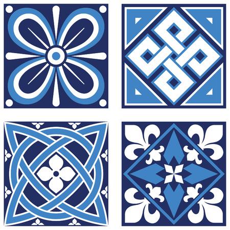 knotwork: Vintage Ornamental Patterns in Blue Tones