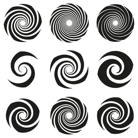 swirl: Vector Spiral Swirl Collection Illustration