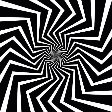 Vector Op Art Spiral