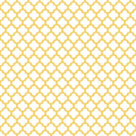 Seamless Vintage Geometric Quatrefoil Pattern Illustration