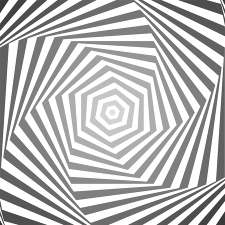 Hexagon gradation optical illusion background Illustration