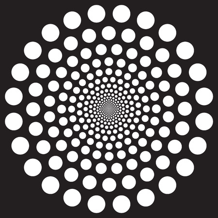 Abstract radiating dot pattern background  イラスト・ベクター素材