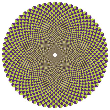 Decorative radial fan pattern