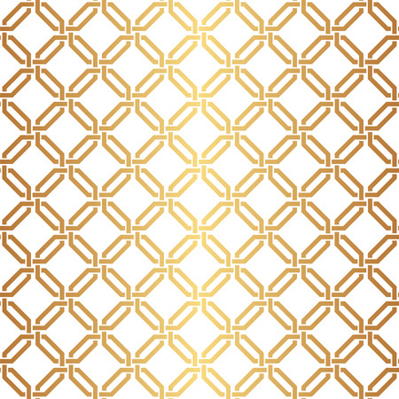 Seamless Interwoven Golden Vector Background Texture Illustration