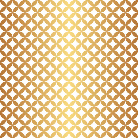 intersect: Seamless overlapping circle pattern in vector format. Gold and white.