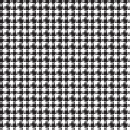 intersect: Seamless Gingham Pattern in Black Illustration