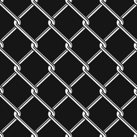 Seamless détaillée maillon de chaîne motif de clôture texture