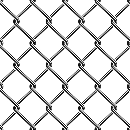 penitentiary: Seamless detailed chain link fence pattern texture Illustration