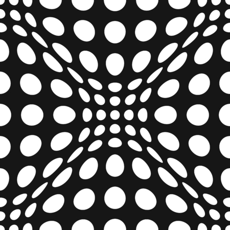 pulsing: Seamless Op Art Distortion Pattern in Vector Format