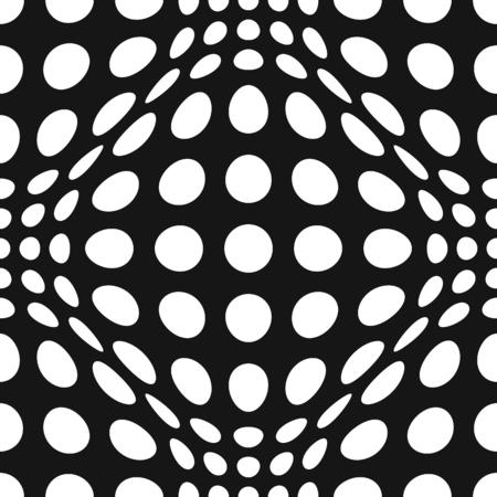 bulge: Seamless Op Art Distortion Pattern in Vector Format