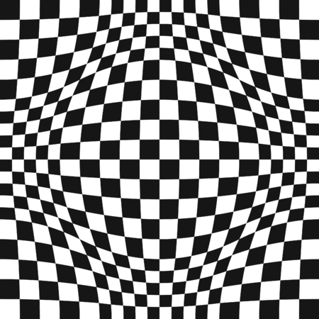 concave: Seamless Op Art Distortion Pattern in Vector Format