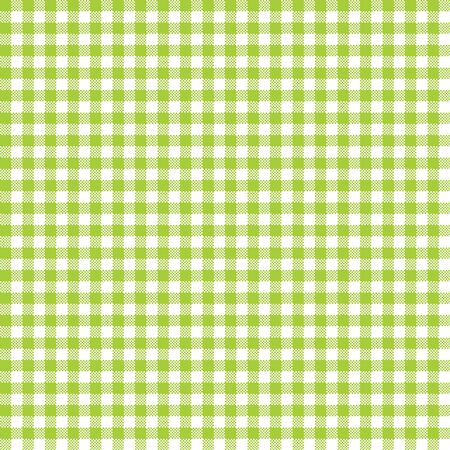 Seamless Gingham Pattern in Lime Green 일러스트