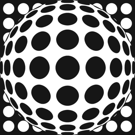 vibrate: Vector dot pattern with fish eye lens effect. Also available as part of a set.