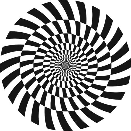 Spiral Illusion optique Pattern Vecteurs