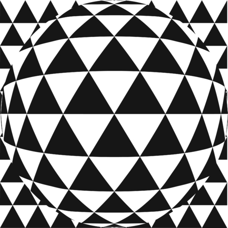 hemispherical: Vector triangle pattern with fish eye lens effect. Also available as part of a set.