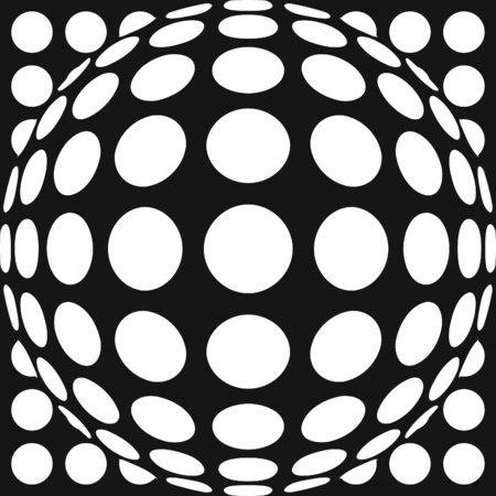 hemispherical: Vector Dot Pattern with Fisheye Lens Effect. Also available in a set. Illustration