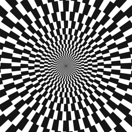 Vector Checkered Vortex Spiral Swirl Background