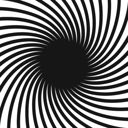 disappearing point: Spiral in black and white.