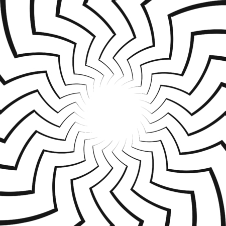 disappearing point: Op Art Spiral Swirl Background.