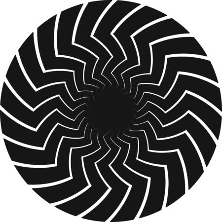 Op Art Spiral Swirl Background.