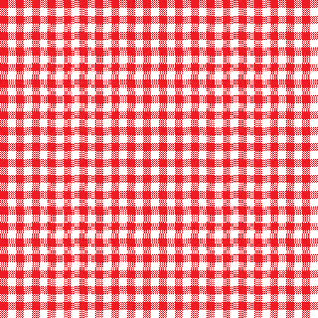 Seamless Red Gingham Pattern in Vector Format