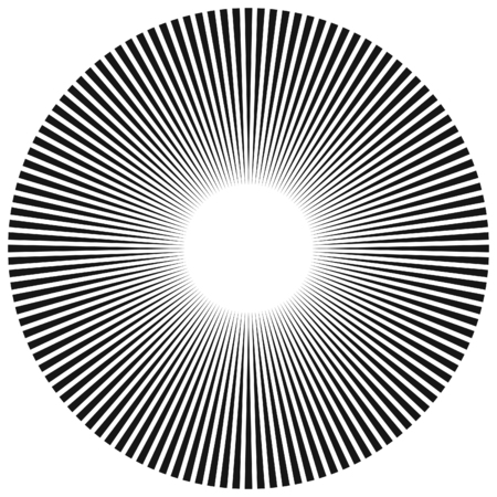 Abstract radial sunburst ray background in vector format.