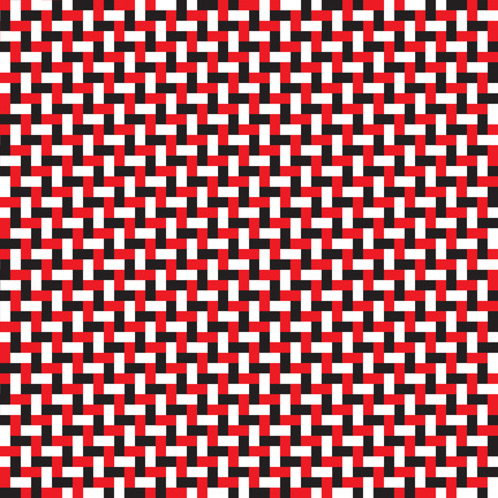 Seamless red and black brick weave pattern background