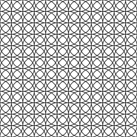 Patrón de círculo vintage geométrico de intersección perfecta