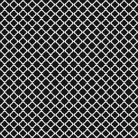 Seamless Vintage Geometric Quatrefoil Lattice Pattern 일러스트