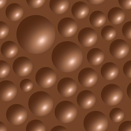 Seamless chocolate bar bubbles texture pattern illustration Vektorové ilustrace