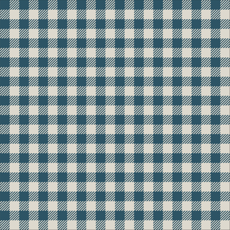 Seamless vintage teal and mint gingham pattern texture. Gingham check background.