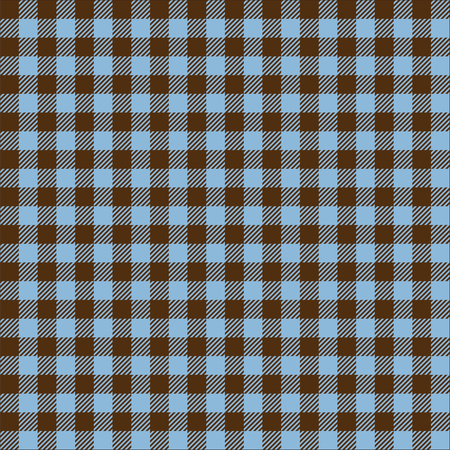 Seamless vintage brown and blue gingham pattern texture. Gingham check background. Ilustrace