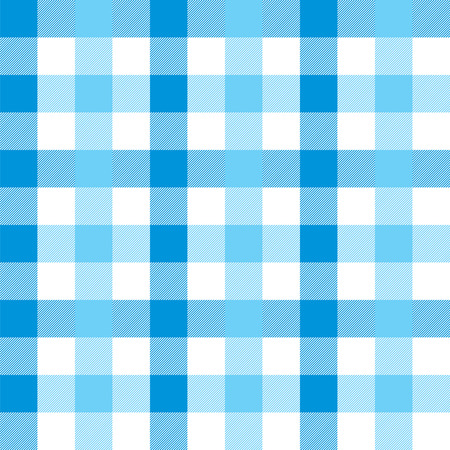 Seamless Large Blue Gingham Pattern