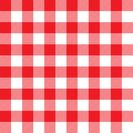 Seamless large red gingham pattern. Vintage restaurant gingham check tablecloth style. Ilustrace